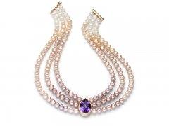 Amethyst, Perlen mit Farbverlauf
